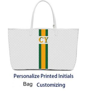 Personalizado personalización del bolso del diseñador de alta calidad de la personalización de la carta bolsa de personalizar los servicios de honorarios iniciales impresas Y.