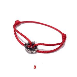 Bijoux de mode de commerce extérieur Belle bracelet en acier de titane chaud argent noir brillant petit bracelet à trois anneaux de couleur 2018