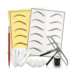 New Arrival Microblading Eyebrow Tattoo Set Manual Pen Kit Tatouage Sourcil Practice Anestesico Para Best chines free shipping