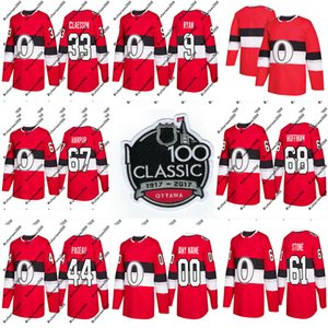 41 Craig Anderson Jersey 2018 Temporada 100a Classic 1 Mike Condon 2 Dion Phaneuf Ottawa Senators Custom Hockey Jerseys