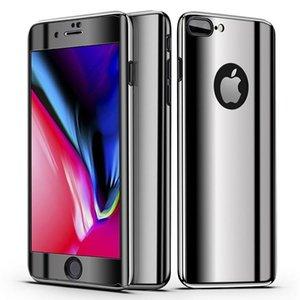 아이폰 아이폰 6 기가를 들어 X 플러스 7 8 플러스 5 삼성 갤럭시 S7 에지 S8 플러스 주 8의 경우 고급 360 도금 빙 미러 전화 케이스