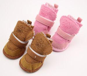 S-2XL Pet Dog Shoes Winter Super Warm Dog Boots Cotton Anti Slip Shoes Small Pet Socks ChiHuaHua Waterproof Shoes Free Dropshipping