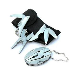 고품질 휴대용 다기능 접이식 포켓 도구 플라이어 칼 키 체인 스크루 드라이버 다목적 조합 펜치