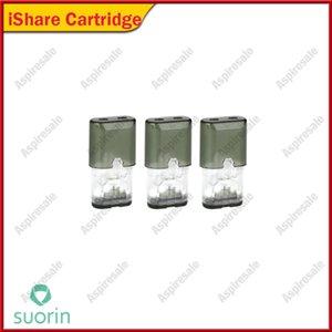 Suorin iShare Patronenhülsen 0.9ml Nachfüllbarer iShare Pod 2.0 Ohm Ersatzspulenkopf für Suorin iShare Single Dual Kit 100% Original