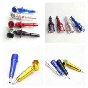 Microfono a forma di metallo tabacco tabacco tubo di sigaretta a mano secco filtro a base di erbe cucchiaio tubi 2 stili accessori strumenti