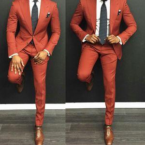 Yeni Moda İki Düğmeler Damat Smokin Groomsmen Tepe Yaka Best Man Blazer Erkek Düğün Takımları (Ceket + Pantolon + Kravat) H: 900