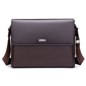 hot sale PU leather business zipper briefcase men handbags