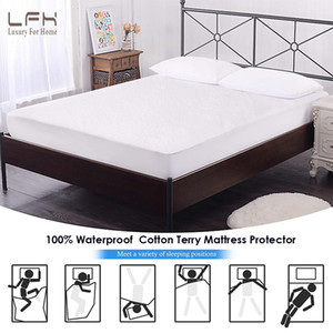 LFH 180X200CM cotton terry Mattress cover 100% Waterproallergenic matress Protector For Pad Matelas Cover
