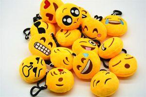 yüz ifadesi unisex hediye için Anahtarlık Anahtarlık Peluş oyuncaklar Amusing sevimli Emoticon anahtarlık