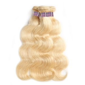 베스트 셀링 Ishow 헤어 핫 판매 브라질 바디 웨이브 Human Weft 613 Blonde Hair 3PCS / lot 페루 헤어 위브 번들 무료 배송