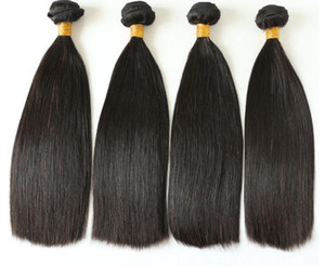 100% Human Hair High Quality Straight Double Drawn Raw Virgin Hair 1 bundle