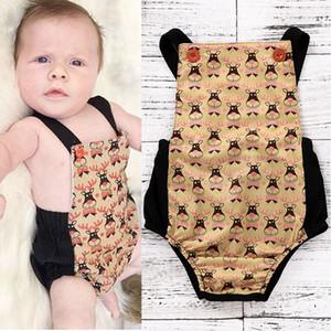 Bebek Noel Sling Tulum Yelek Sapanlar Yenidoğan Erkek Bebek Kız Sleevess Düğme Elastik Ilmek Beş Sırsır Yıldız Giysileri 3-