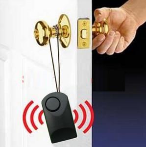 Taşınabilir kapı sensörü alarm kapı kolu dokunmatik 120 dB anti-hırsızlık korkutuyoruz kapı güvenlik otel güvenliği siren