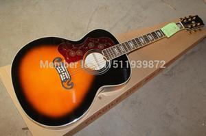 Frete grátis novo atacado canhoto SJ200 Guitarra Acústica Do Vintage Sunburst Guitarra Acústica 6 cordas Guitarra