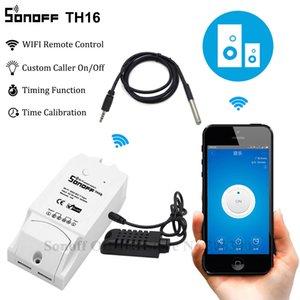 Sonoff TH16 смарт WiFi выключатель контроля температуры и влажности беспроводной смарт-переключатель домашний комплект автоматизации работы с Alexa Гугл дома