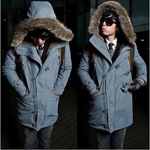 Increase Down Man Hat Cotton-padded Clothes Men's Cotton Loose Coat Winter Jacket Men