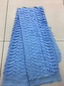 Vente en gros 2018 Dernière dentelle brodée Fabric.High Quality African Net Tulle Net Lace Fabric pour robe de soirée de mariage!