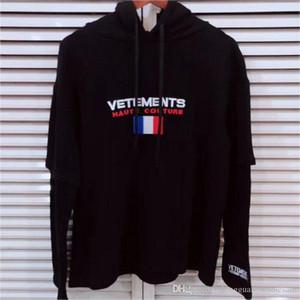 Vetements 17FW Mens Marke Designer Hoodies Nation Flagge Gedruckt Sweatshirt Männlich Weiblich Hip Hop High Street Pullover