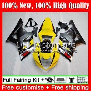 هيكل لسوزوكي GSX-R1000 K3 رمادي أصفر GSXR-1000 GSXR 1000 03 04 هيكل السيارة 29MT4 GSXR1000 03 04 K3 GSX R1000 2003 2004