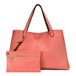 Moda totalizador de las mujeres ocasionales de la vendimia del monedero de la manija superior del hombro Totes bolso de las señoras Shopper bolso elegante bolso de mano