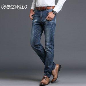 Brand Men Designer Stretch Casual Straight Leg Denim Jeans Hombre Regular Fit Cotton Business Pantalones Pantalones Vaqueros Hombre Venta caliente