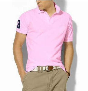 marca T-shirt do bordado Homens Verão Big pequeno cavalo Designs Polo Casual Men Homens de manga curta Camisas Slim Fit Polo Cotton Men Polo