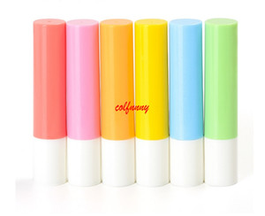 200pcs / lot 빠른 배송 립 밤 튜브 병, 3.2 ml 플라스틱 lipbalm 튜브 빈 병, 3.2 g 다채로운 립스틱 패션 튜브