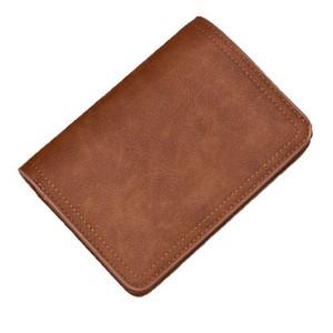 Nouveau portefeuille Zipper Portefeuille homme en cuir givré rétro de haute qualité PU véritable court paragraphe bourse boucle multi-cartes