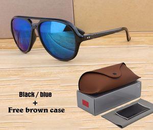الكلاسيكية أزياء 4125 النظارات الشمسية الرجال النساء العلامة التجارية مصمم مرآة uv400 العدسات للجنسين نظارات الشمس oculos دي سول مع الحالات ومربع