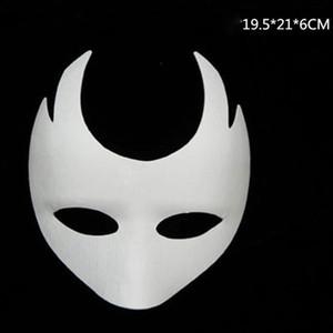 New White Unpainted Máscara Facial Versão Em Branco Máscara de Papel Celulose DIY Graffiti Masquerade Máscara do Dia das Crianças Máscaras