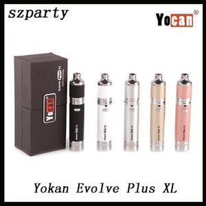 Yocan Evolve Plus XL Kit de inicio Vaporizador de cera Pluma 1400mah batería Vape Dab Pen Kits con frasco de silicona Quadz Bobina Vapor enorme 0268064
