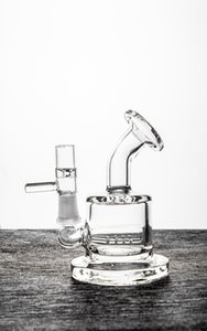 2018 Newest Thick Glass Bongs Glass Smoking Pipes Water Piper with Clear 8.1cm Glass Bongs