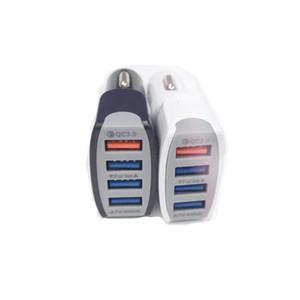 High Qualtiy QC 3.0 4USB 7A Adaptativo Carga rápida Inicio Viaje Cargador de coche Cable de enchufe cable usb Para Samsung Galaxy