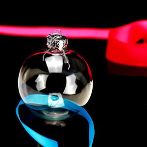 Decorazioni natalizie Palline a soffio Trasparente Hollow Clear Glass Ball Tree Party Ornamento Riutilizzabile Creative con diverse dimensioni 1 95ml jj