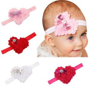 2018 Новый День Святого Валентина Baby head с волос шифон лук в форме сердца baby hair band 4 Цвет опционально