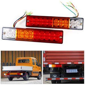 2pcs 트레일러 조명 LED 중지 후면 테일 브레이크 역방향 턴 Indiactor led 12V / 24V ATV 트럭 트레일러 테일 라이트 램프