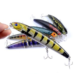 New 10 Pcs / lot 12,5 centímetros / 15,9 g 6 Cor Pintura Pesca Temptation Mino Artificial disco Crank Bait Wobbler Peche Carp Tudo para Pesca