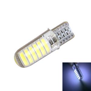 T10 W5W LED Light 194 12 SMD Lectura de la bóveda del bulbo de silicona Caso 7020 del lado del coche de la lámpara de cuña Blanco Car Styling 12V