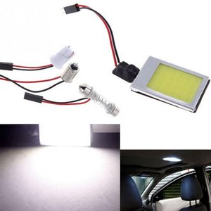DC 12V White 3W 24 SMD Car Interior COB LED Panel T10 COB Chip Festoon Dome t10 AdapterAauto Car COB LED