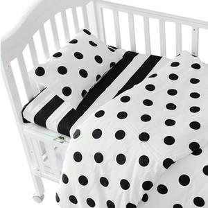 3 pezzi / set ins biancheria da letto per culla, lettino per bambini (federa + lenzuolo + copripiumino senza imbottitura) dimensioni entro 130 * 70 cm