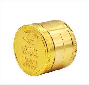 Gold grinding smoke device 4 layer cigarette lighter smoke cutter