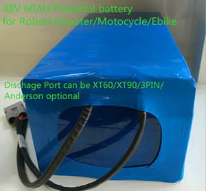 Batterie de lithium de bicyclette électrique 48V 60AH Bafang Moteur 3000W Utilisez 18650 cellules avec une batterie de scooter 50A BMS et 5A Chargeur Li-ion