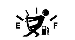 Personnalité Drôle Autocollants De Voiture PVC Creuser Consommation De Gaz Jauge À Carburant Vide Cap Décalques Réservoir De Carburant Autocollants
