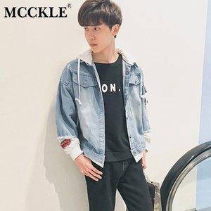 MCCKLE Hommes Denim Veste De Mode 2018 Nouvelle Mode Déchiré Denim Manteau Mâle Casual Streetwear À Capuche Outwear Vestes