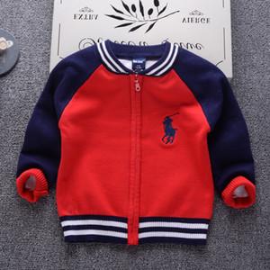 Cardigan Pull Pour Les Garçons 2018 Casual Mode Cardigan Infantil Vêtements Pour Enfants À Manches Longues Filles Zipper Pullover Bébé Tops Y18102507