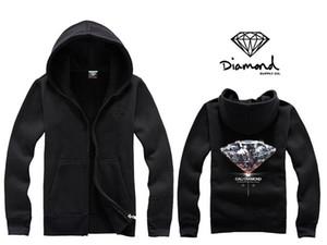 Diamant offre co hoodie hommes hoodie femmes rue molleton chaud sweat hiver automne mode hip hop primitif à capuche Zipper Up Manteaux