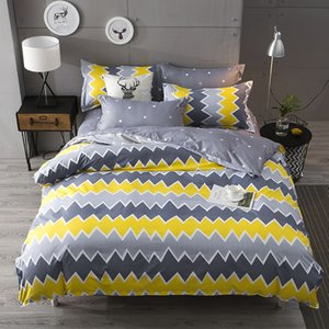 Dyy 4PCS Fashion Individual Chemical Fiber Bedding Set Pillowcase Bed Sheet Quilt Cover K12.1.5.1