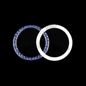 1 шт. мода SUV Bling практический автомобиль декоративные синяя кнопка Пуск переключатель Алмаз кольцо авто аксессуары