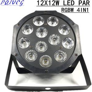 8PCS / 12X12W LED PAR RGBW 4IN1 par led dmx 512 controllo 8 CH luci del palcoscenico Professionale attrezzatura dj