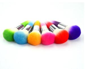hot all'ingrosso pennello blush in plastica asta in pvc confezione trucco pennello multicolore optional dhl spedizione gratuita